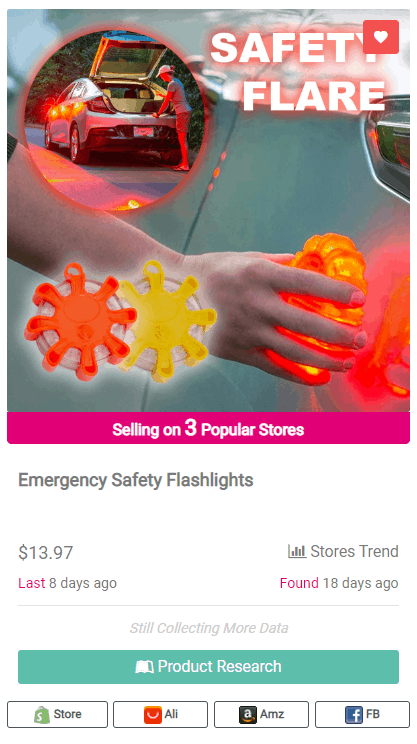 Winning Dropshipping Product Example: Safety Flashlights