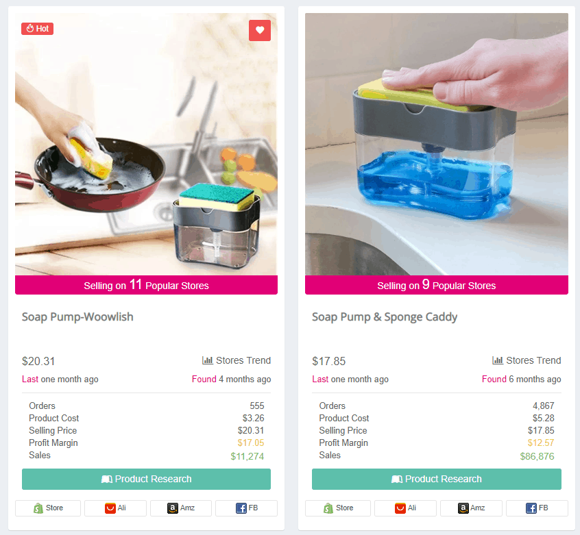 Winning Dropshipping Product Example: Soap Pump