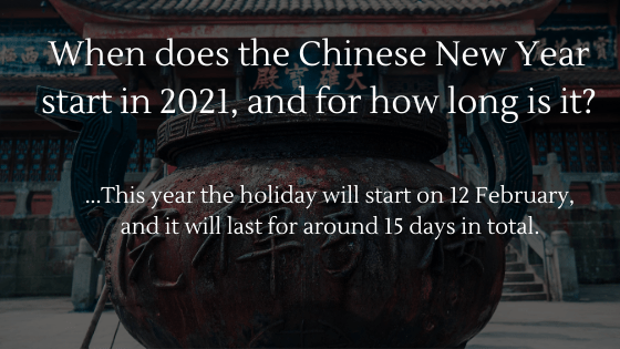 Chinese New Year and Dropshipping: When does it start in 2021, and for how long is it?