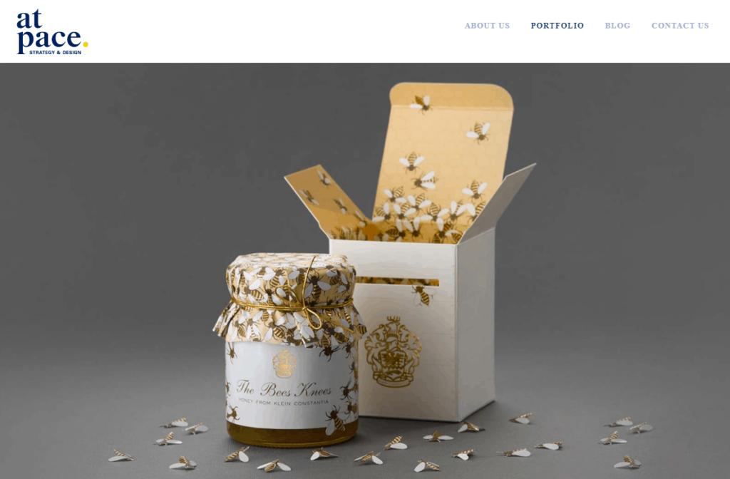 Branded packaging example