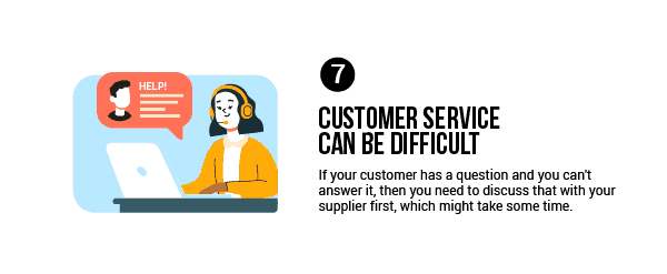 If your customer has a question and you can't answer it, then you need to discuss that with your supplier first, which might take some time