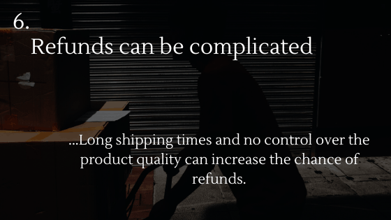 Disadvantages of Dropshipping 6: Refunds can be complicated