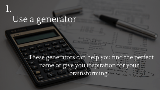 Choosing the Perfect Name for Your Dropshipping Store Tip 1: Use a generator