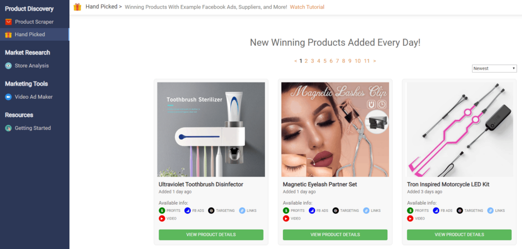 Niche Scraper Review: Product research tools | The Hand-Picked Products