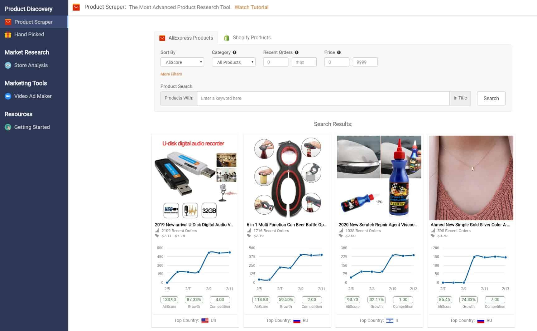 Niche Scraper Review: Product research tools | The Product Scraper
