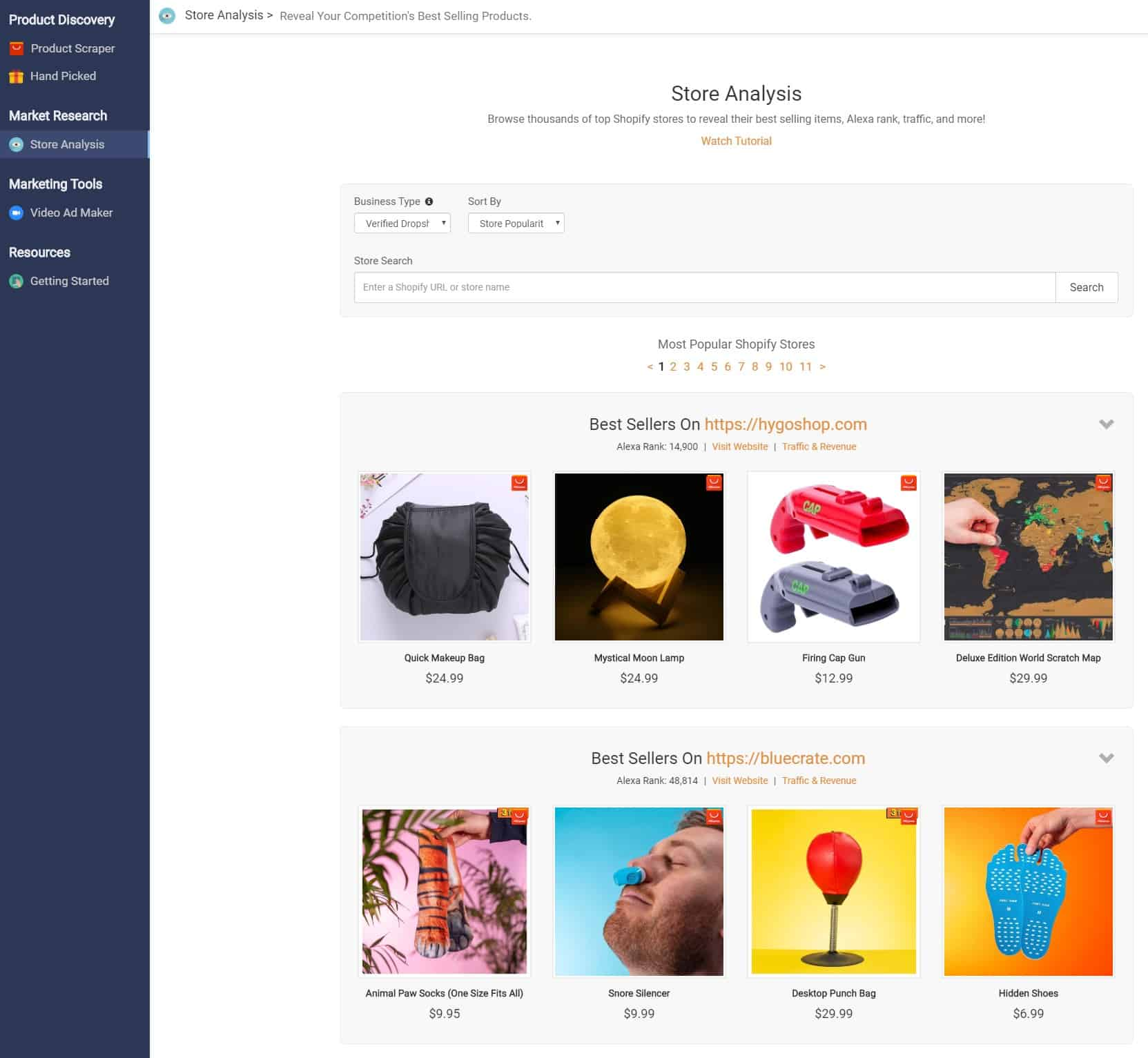 Niche Scraper Review: Market Research: The Store Analysis Tool