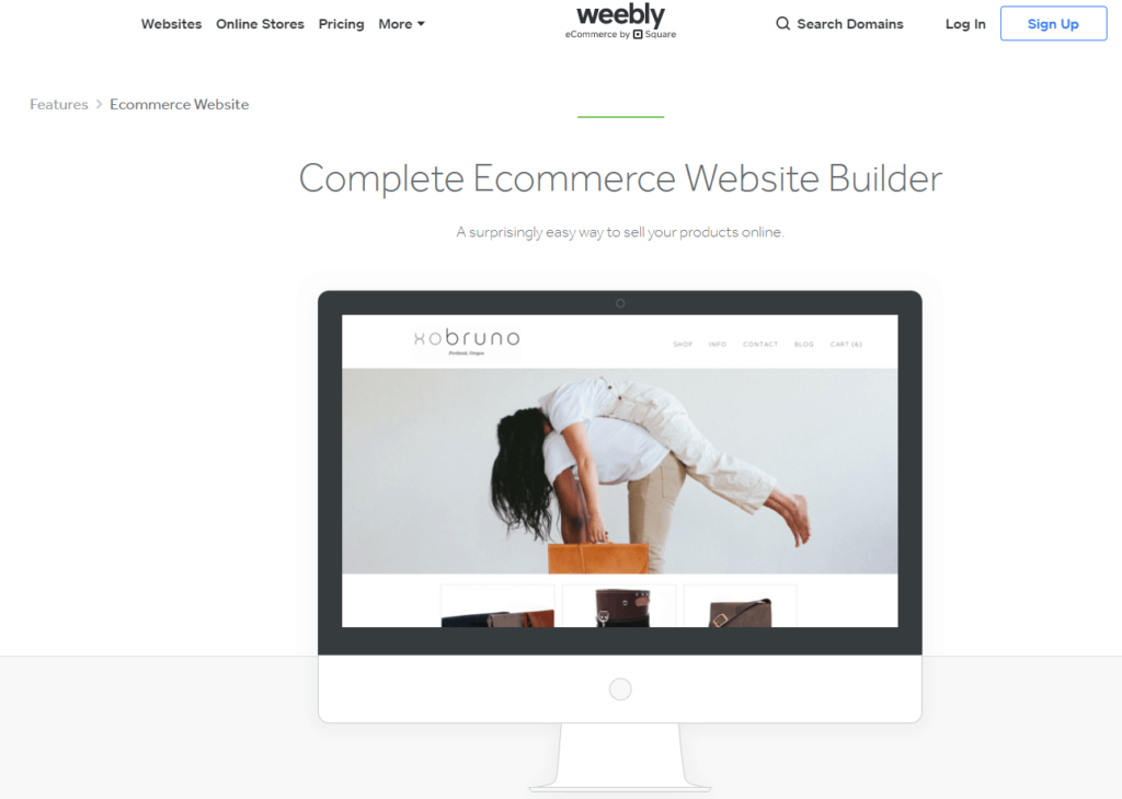Shopify Alternatives Nr. 10: Weebly