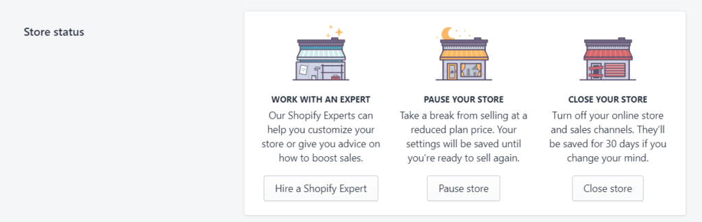 How to Delete a Shopify Dropshipping Store? Step 2: Go to plan and permissions
