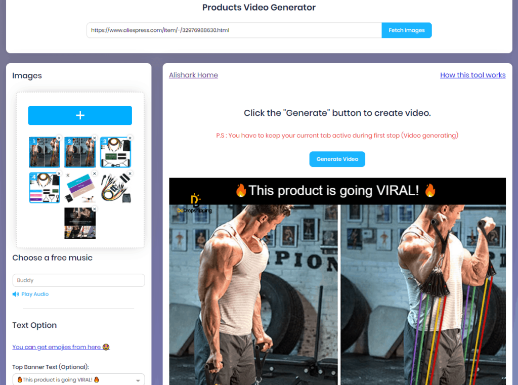 AliShark Review: Extra tool the products video generator!