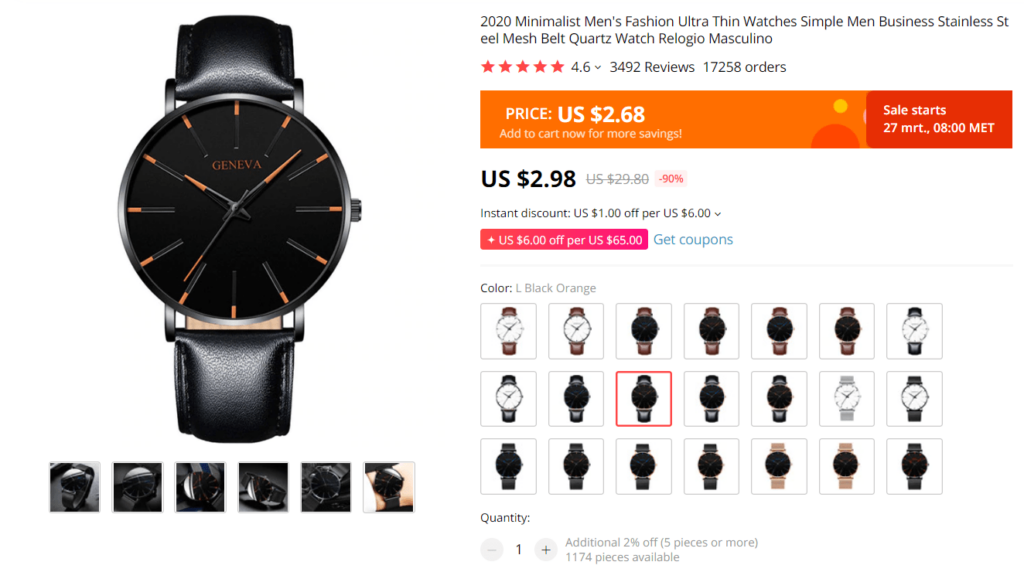 Dropshipping Watches: Low quality watches