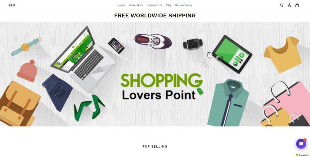General Dropshipping Store Example: Shopping Lovers Point
