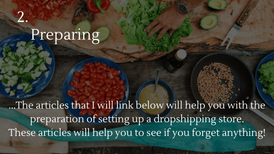 How to Set up a Dropshipping Store: 2. Preparing