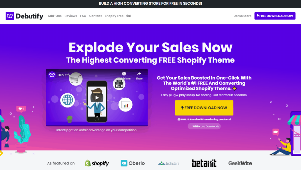 The best Shopify dropshipping themes: Debutify