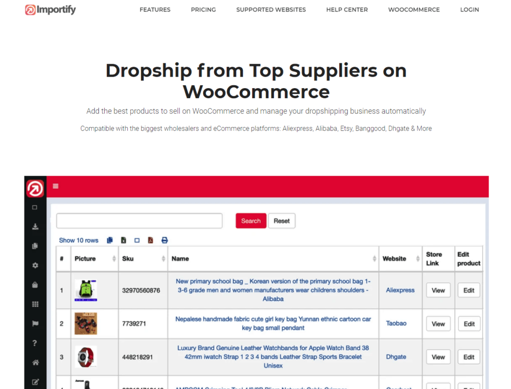 WooCommerce Plugins Multiple Dropshipping Suppliers: Importify