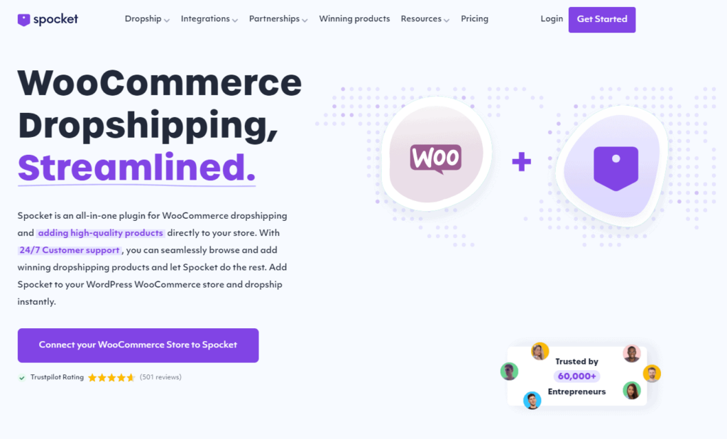 WooCommerce Plugins Own Dropshipping Suppliers: Spocket