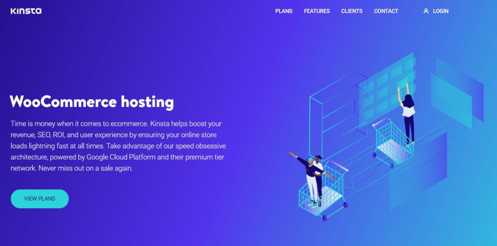 Kinsta WooCommerce hosting page