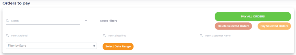 Example from uDroppy where you can pay directly for all your orders