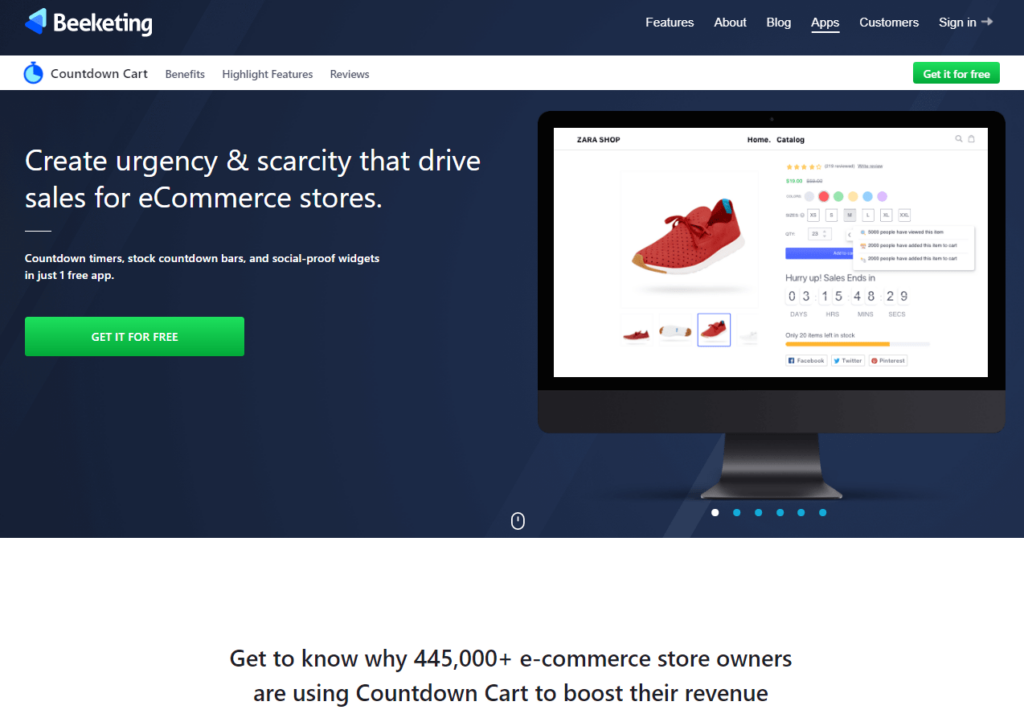 Best Shopify App For Dropshipping Beginners: Countdown Cart