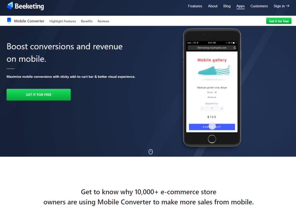 Best Shopify App For Dropshipping Beginners: Mobile Converter