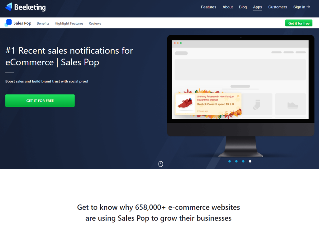 Best Shopify App For Dropshipping Beginners: Sales pop