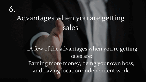 Advantages of Dropshipping: 6. Advantages when you are getting sales