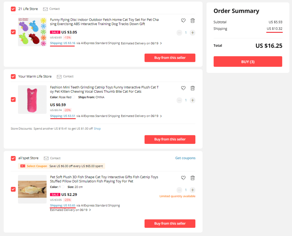 Dropshipping with multiple suppliers on AliExpress