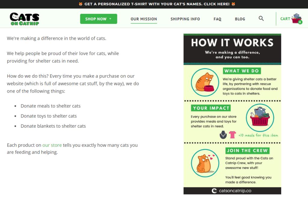 Cats on Catnip example