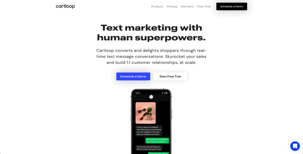 Recover abandoned carts the right way with SMS Marketing by using Cartloop