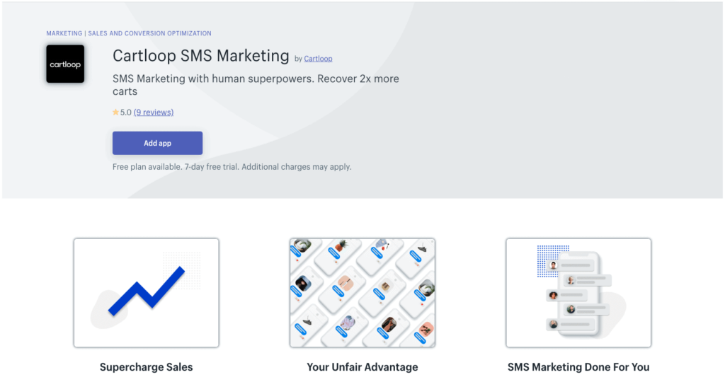 SMS Marketing app: Cartloop