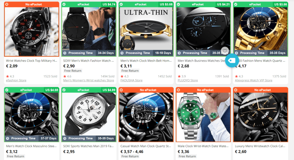 Dropshipping niches to avoid: Watches