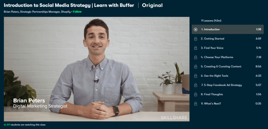 Free Ecommerce Courses: Buffer's introduction to Social Media Strategy