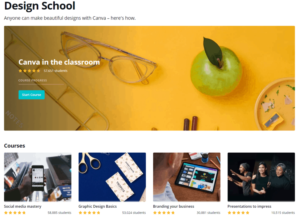Free Ecommerce Courses: Canva's design school