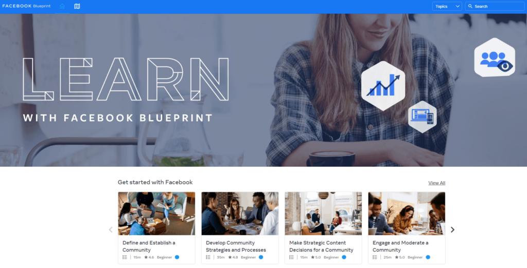 Free Ecommerce Courses: Facebook Blueprint