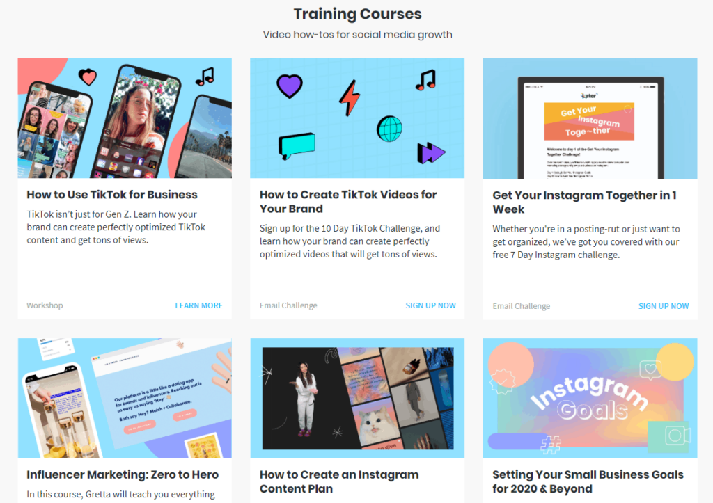 Free Ecommerce Courses: Later's free Instagram courses