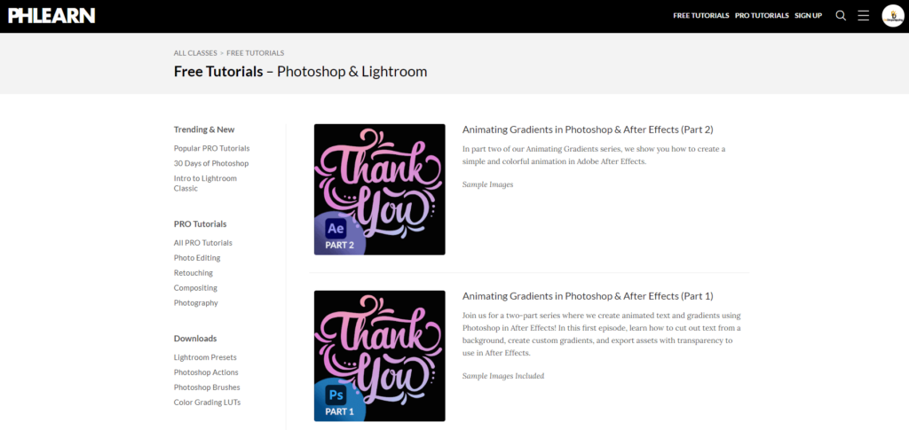 Free Ecommerce Courses: Phlearn free Photoshop courses & More