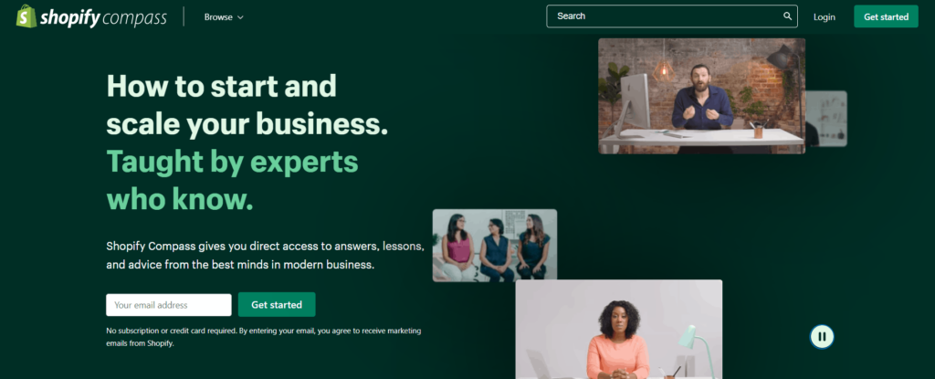 Free Ecommerce Courses: Shopify Compass
