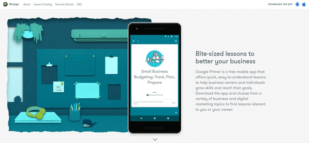Free Ecommerce Courses: Google Primer App