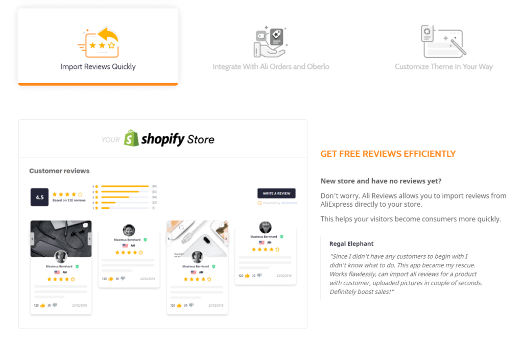 How to get product reviews when you're dropshipping? You can use Ali Reviews to import reviews straight from AliExpress to your Shopify store