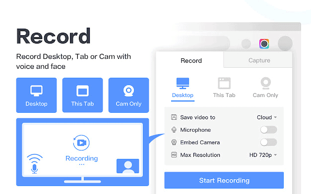 You can also record with Awesome Screenshot