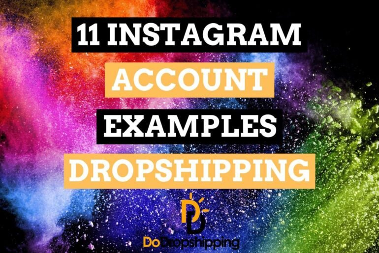 11 Dropshipping Instagram Account Examples | Inspiration