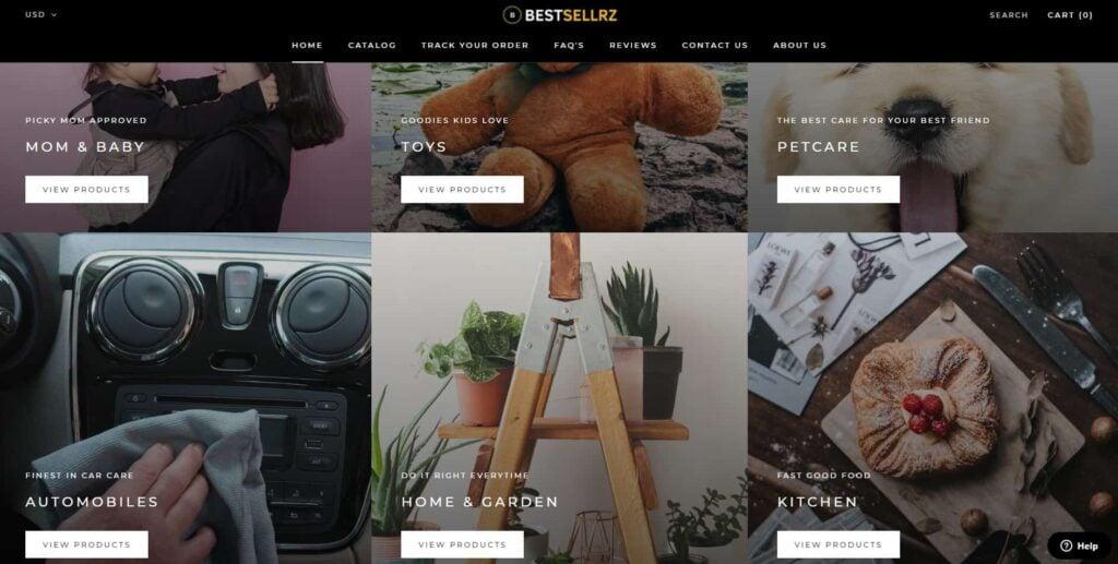 Bestsellrz homepage