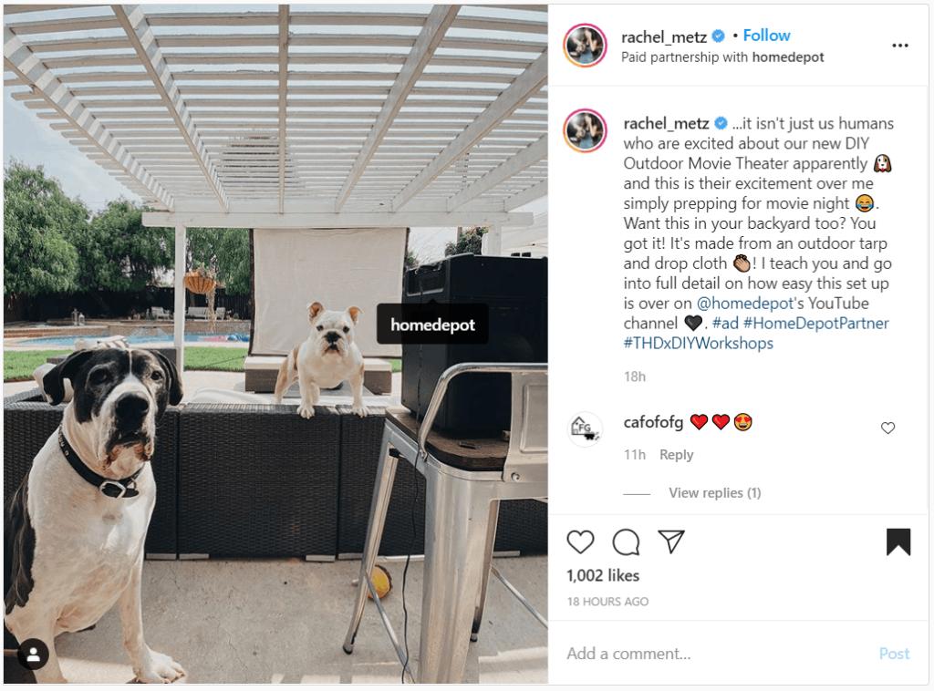 homedepot instagram shoutout examples