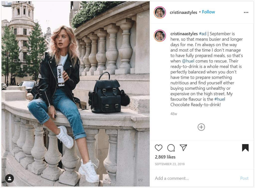 huel instagram shoutout examples
