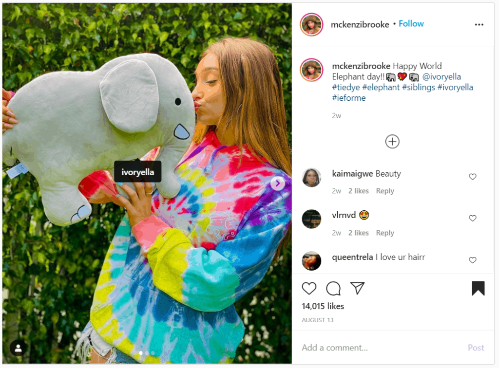 ivory ella instagram shoutout examples