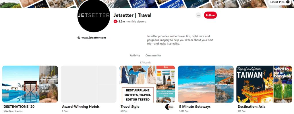 Good Pinterest board example