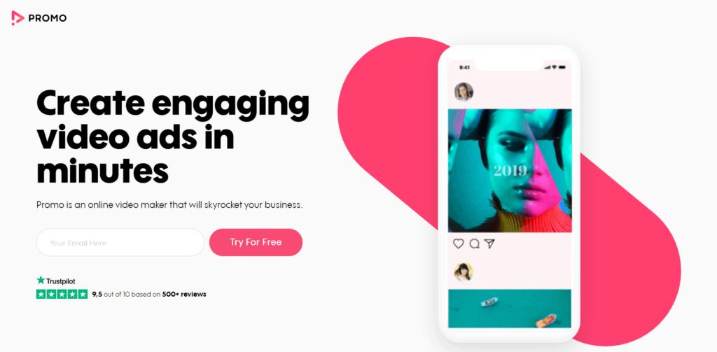 Promo create video ads ecommerce