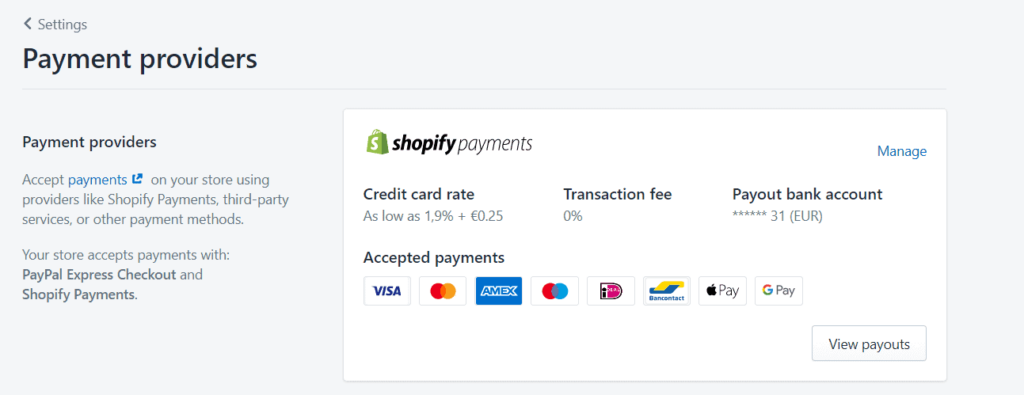 Shopify payments dropshipping payment gateway