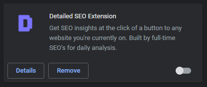 Disabling an Chrome extension as an example