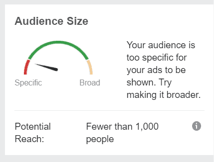 Facebook Audience Size too small
