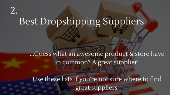 Guess what an awesome product & store have in common? A great supplier!